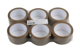 Connect 35212 General Purpose Brown Parcel Tape 48mm x 66m Pk 6